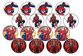 Cake Decorating Spiderman Edible Picture Cupcake Toppers Rice