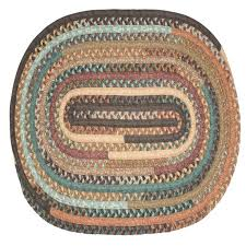 cheap round rugs. Cheap Area Rugs 7x9 Braided Plaited Wool Rug Brown Round Kitchen