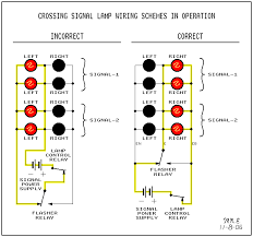 how to wire trackside signals using an atlas snap relay and led how do rr signals work print showing crossing signal lamp wiring schemes in operation