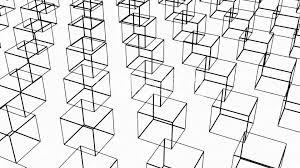 Rotation of 3d matrix box container packaging object carton transportation crate modern dimensional sketch structure royalty free video and stock footage