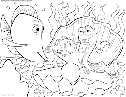 Finding Nemo Coloring Pages For Kids New Disney S Sheet Free