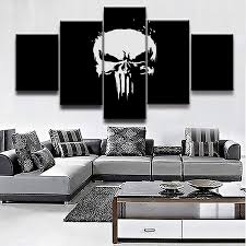 Xlst Hd Druck 5 Stücke Comics Marvel Punisher Bilder Home Decor