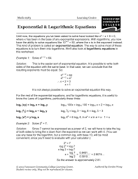 solving exponential equations without logs worksheet answers 008264856 1 07791603fd7ec526c88bbdb863947f95 solving exponential equations without logs