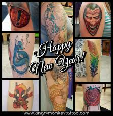 Happy New Year 2018 Angry Monkey Tattoo