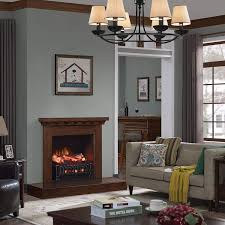 caesar fireplace fp201r stove adjustable electric log set heater with realistic ember bed 1500w remote controller