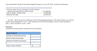 9 Core Technologies Solved The Shareholders Equity Of Core Technologies Comp