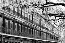 >photo print of new orleans french quarter architecture jackson  new orleans french quarter architecture jackson square black and white