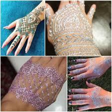 Henna Glitter Designs Move Over Flash Tattoos Glitter Henna Designs Will Give You