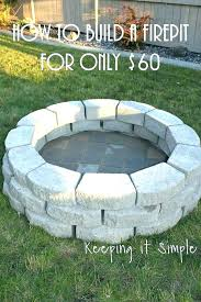 in ground fire pit ideas building an a diy picture of how to build