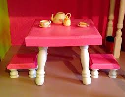 American Girl Kitchen Table And Stools Diy American Girl Doll