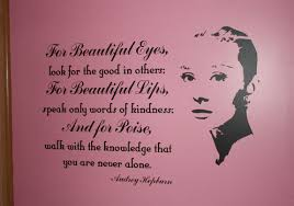 Audrey Hepburn Quote For Beautiful Eyes Best Of Celebrity Wall Art Audrey Hepburn Designs