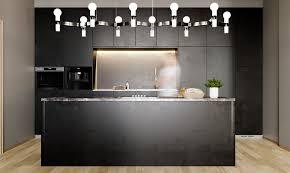 ... Zurückhaltenden Hintergrundbeleuchtung Im Schrankinneren, Während Die  Leuchte über Dem Esstisch   Oder Wie In Diesem Fall, über Der Kücheninsel    Ein ...