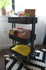 Store everything from books to blankets to office supplies in this RSKOG  cart  wheel it where you need it! -- Maybe for the living room, ...