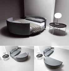 space saver furniture for bedroom.  saver fantastic space saving bedroom furniture with astounding gray rounded  folding sofa bed also cushions along lamp on round table decorations  inside saver for i