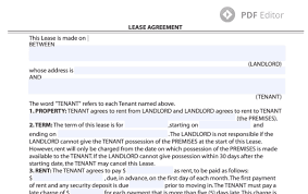 Residential Lease Contract Lease Agreement Form Residential Lease Agreement Template