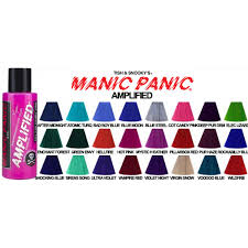 Manic Panic Blue Color Chart Colour Chart