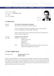 Template Latest Resume Model Templates Memberpro Co 2015 Cv Sample