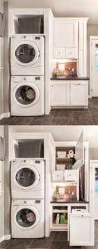 6' Utility Room Package in Glacier White with stacked washer and dryer .