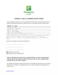 credit card authorization form templates generic awesome pdf hilton one 1 time