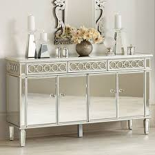 mirrored buffet cabinet. Elizabeth Silver Mirrored 4-Door Buffet Cabinet Lamps Plus Canada