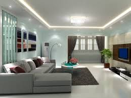 Blue Paint Idea For Small Living Room