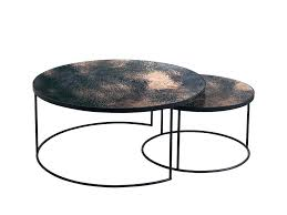 round nesting coffee table round nesting coffee table indigo living furniture and decor tables canada