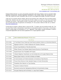 Science Projects Reports Sample Computer Science Ieee Project Topics 2015