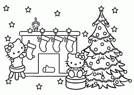 Small Picture Coloring Pages Christmas Hello Kitty Coloring Pages For Kids