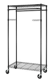 Rolling Coat Rack With Shelf Amazon New Bronze 100Tier Rolling Clothing Garment Rack Shelving 43