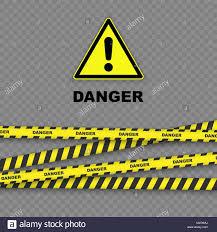 Black And Yellow Stripes Border Danger Background With Black And Yellow Striped Borders Vector