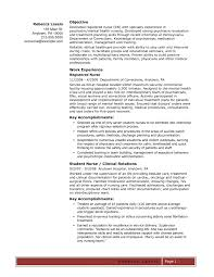 Resume Sample Er Nurse How To Write A Nursing With No Experience