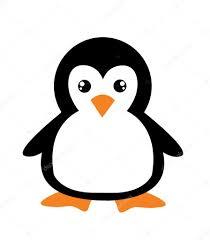 Pingouin Dessin Anim Mignon Sur Fond Blanc Image Vectorielle