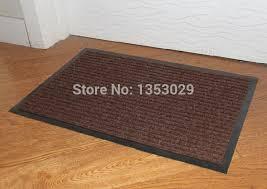 40X60Cm Rectangular Striped Carpet Dust Step Foot Doormat Entrance