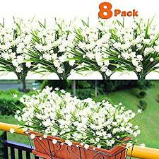 8pcs artificial flowers outdoor uv