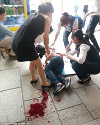 Chinese teen stabbed over