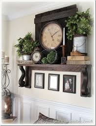 Mantle Shelf idea / Love this! The only reason I want a fireplace is for  the mantle!
