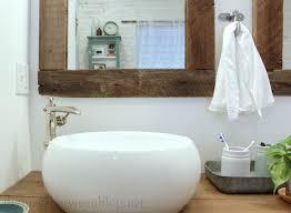 upcycling idea DIY reclaimed wood framed mirrors