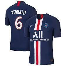 Marco+Verratti+#6+Paris+Saint-Germain+19/2020+Home+Jersey+–+Navy | Track  suit men, Paris saint-germain, Jersey shirt