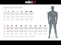 Mellos Size Guide