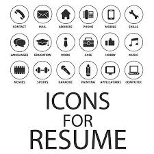 Resume Icons Gorgeous Icons Set For Your Resume CV Job Royalty Free Cliparts Vectors