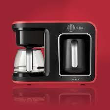 Karaca HATIR Plus 2 in 1 Coffee Machine Red 153.01.06.4921 - ebarza