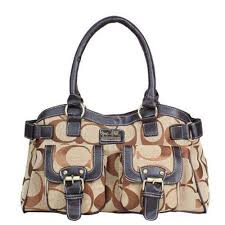 Coach Legacy Logo Signature Medium Khaki Satchels DQF Give You The Best  feeling!