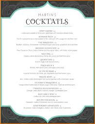 Menu Templates Microsoft Word Cocktail Menu Template Word Free 24 Best And Professional Templates 16