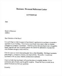 Cover Letter Reference Business Company Recommendation Letter Sample