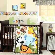 jungle crib per jungle nursery bedding sets jungle buds 3 piece baby crib bedding set by