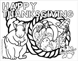 Thanksgiving Cornucopia Coloring Page Crafting The Word Of God