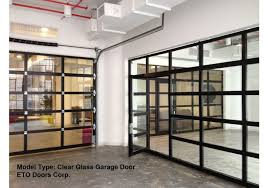 aluminum full view glass garage doors on restaurant full
