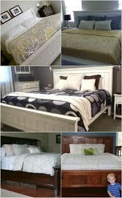 diy king bed frame. Unique Bed King Size Bed In Diy Frame