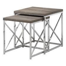 monarch specialties i 3 piece table set