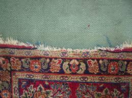 worn rug fringe
